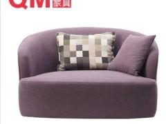 曲美家具客厅实木布艺沙发单人沙发S10-1