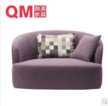 曲美家具客厅实木布艺沙发单人沙发S10-1品牌曲美家具品牌论坛相关
