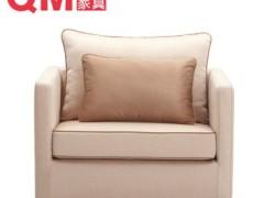 曲美家具 单人沙发 实木 布艺沙发 13WS-S1-1