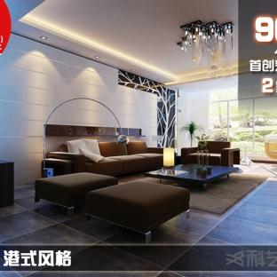 田园风格二居室客厅吊顶装修效果图大全2014图片 设计师: 丁娟图片