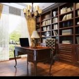 玛格定制家具 欧式实木书柜