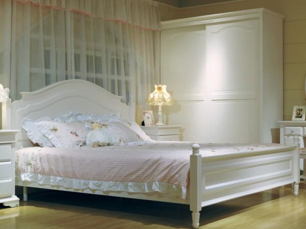 和风轩尼诗 J2813-8韩式田园卧室家具1.8米双人床