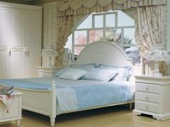 和风轩尼诗韩式家具 J2819-8 象牙白1.8米大床