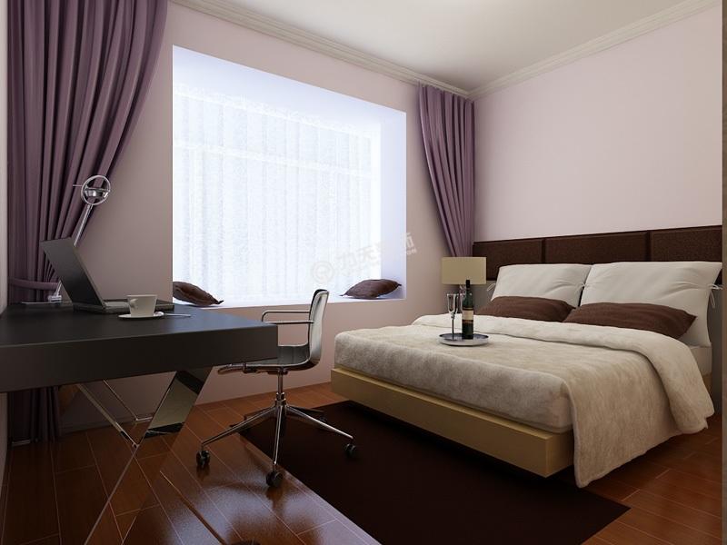 现代简约88平米二居室装修效果图高清图片