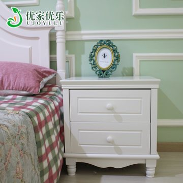 优家优乐9910 田园床头柜 田园家具 韩式储物柜烤漆