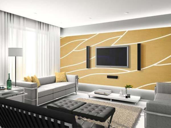 斯米利亚硅藻泥---电视背景墙