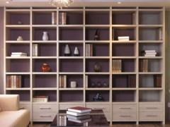 索菲亚白F书柜定制组合书房置物柜收纳柜人造板储藏现代风格