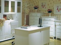 和风轩尼诗J452韩式田园风格家具象牙白1.4米书桌