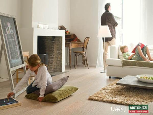 比利时快步舒适系列U1896-洗白橡木强化复合地板