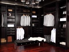 索菲亚红橡木衣帽间 走入式整体衣帽间 组合大衣柜 现代简约环