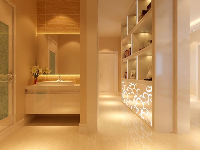 现代简约-106平米三居室-装修样板间