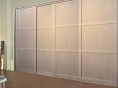 索菲亚拉斐特CK7木纹框象牙白推拉门定制衣柜白色整体家具移门