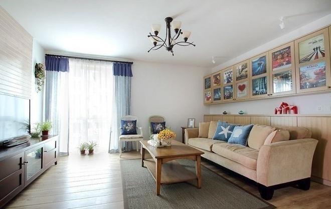 20万简欧风格三居室装修效果图高清图片