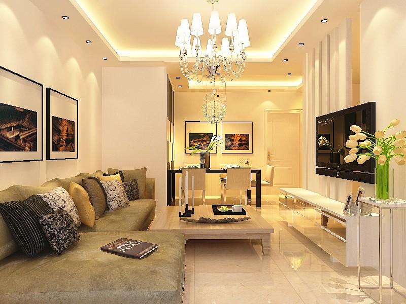 现代简约二居室客厅沙发装修效果图高清图片