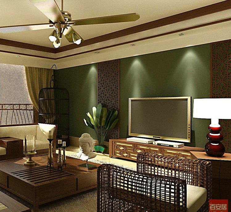 沙发装修效果图 东南亚风格三居室客厅沙发装修效果图高清图片