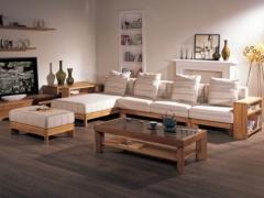 北欧丽木上海家具厂实木家具,厂家直销榆木家具沙发BO-W01