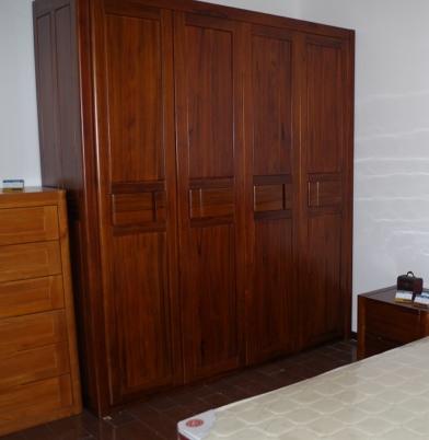 北欧丽木 上海实木家具 榆木家具 纯榆木衣柜BO-D01-3