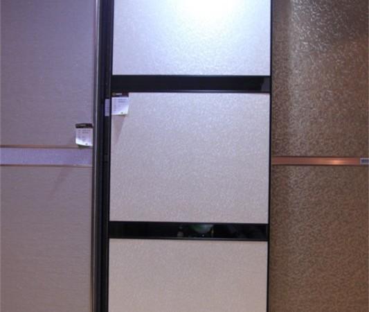 科德贝尔 硬包半隐框平板移门 二根中横
