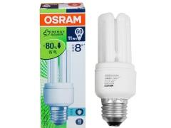 OSRAM欧司朗T2全螺旋型节能灯23W白光色E2五只装