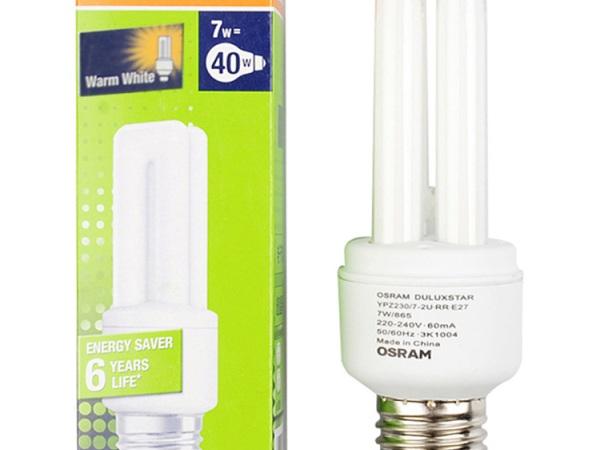 OSRAM欧司朗T4标准型节能灯7W日光色E27