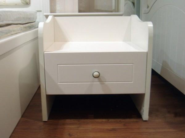 和风轩尼诗B334韩式田园象牙白单抽床头柜