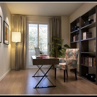 新中式风格三居室书房榻榻米装修图片欣赏图片