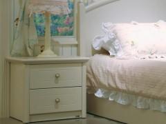 和风轩尼诗B331韩式田园风格家具象牙白床头柜