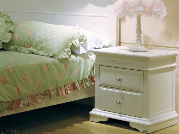 和风轩尼诗J332韩式家具田园风格板木结合床头柜