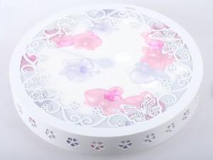 欧普照明 40W蝶恋粉红色吸顶灯