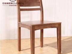 【佐必林】北美黑胡桃实木直角餐椅 C-09