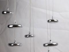 阿斯莱特灯具吊灯 MD-1701/9 不锈钢色 客厅 餐厅