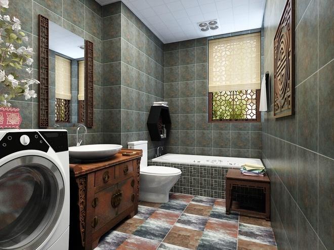 中式古典-322.45平米二居室-装修样板间图片