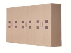 北京格林安家具 白樱桃22#六门衣柜