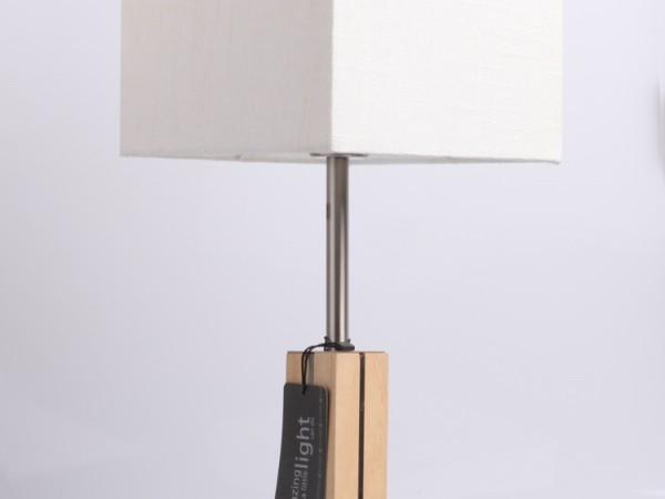 佳特灯饰 198158-660712台灯 白色 橡木-镀镍