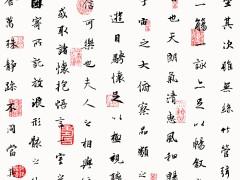 苏州古典字画中式墙纸客厅电视背景壁纸