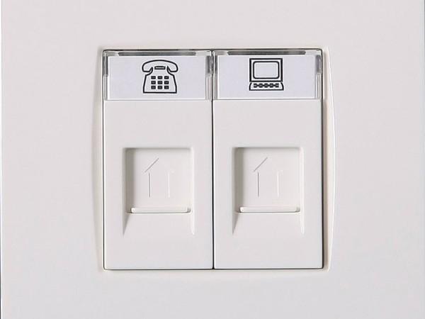 施耐德电气 AU32344-WW ABB电话/电脑插座