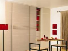 C2框枫木色平板衣柜