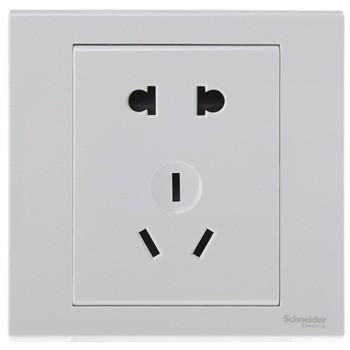 施耐德电气 二三插五孔插座 套餐20个 插座面板 10A