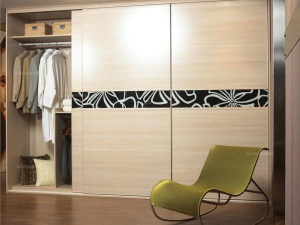 C3框枫木色平板衣柜 索菲亚衣柜