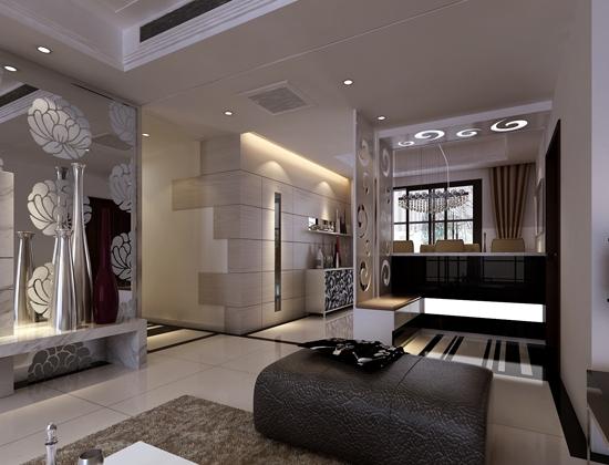 现代简约-330平米四居室-装修样板间
