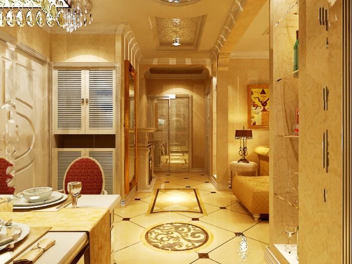 简欧风格-85平米二居室-装修样板间