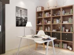 班尔奇现代风格星格书柜 定制书柜 定制书柜整体 定制书桌书柜