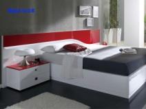 瑞沃家居 cr-010 软床 双人床 简约时尚床 软包床图片