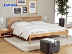 瑞沃家居cr-012 实木床 双人床 实木家具 大床1.8米