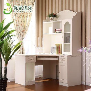 优家优乐 609韩式转角书柜学习桌子