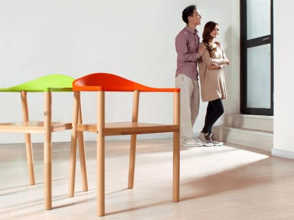 汇美PW002实木餐椅