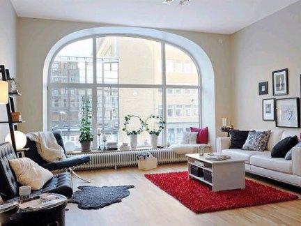 宜家风格客厅展现简单白色的时尚