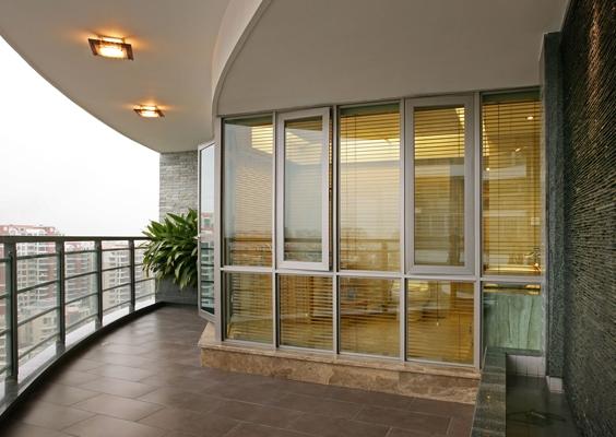 凤铝1.2mm单层钢化玻璃阳台落地窗平开门