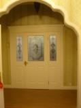 美国艺王CraftMaster双子母门 油漆门 实木复合图片
