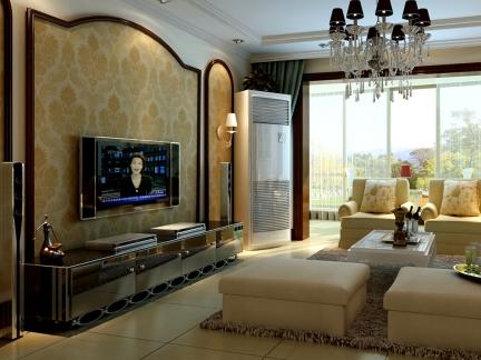 简约欧式风格二居室客厅装修效果图大全图片